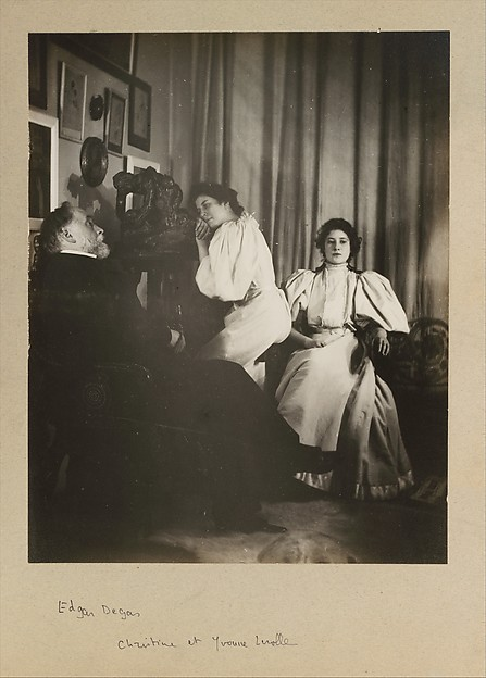 [Self-Portrait with Christine and Yvonne Lerolle]