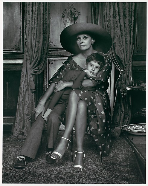 Sophia Loren with Her Son Eduardo