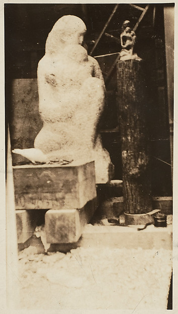 "[""Mother and Child"" in Zorach's Studio]"