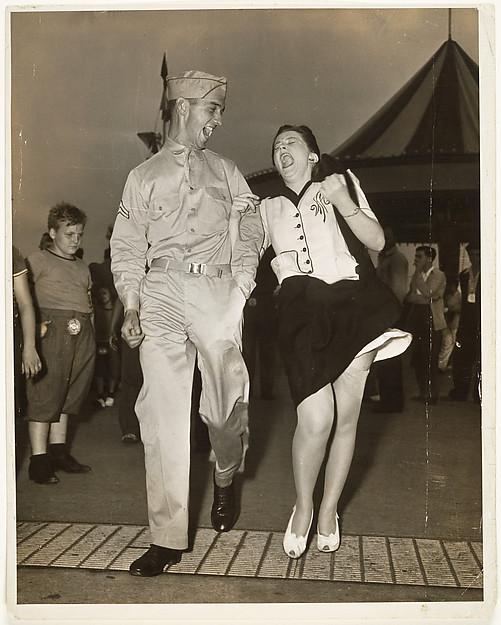 G.I. and Woman at Carnival