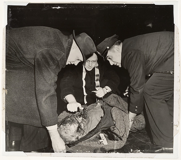Tramp on Lower East Side Receiving the Last Rites