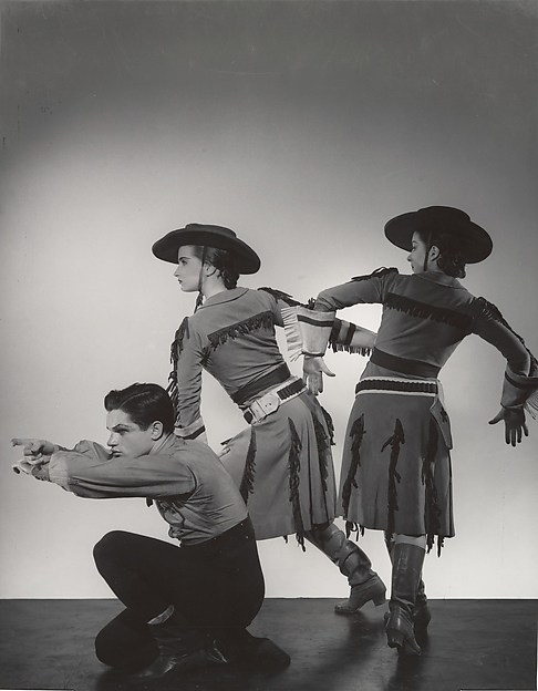 "Michael Kidd, Beatrice Tompkins and Ruby Asquith in ""Billy the Kid"""