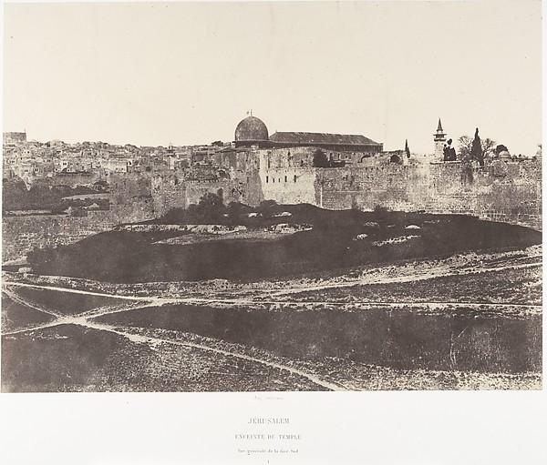 Jérusalem, Enceinte du Temple, Vue générale de la face sud 1
