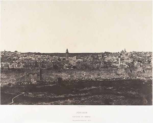 Jérusalem, Enceinte du Temple, Vue générale de la face est, Pl. 3