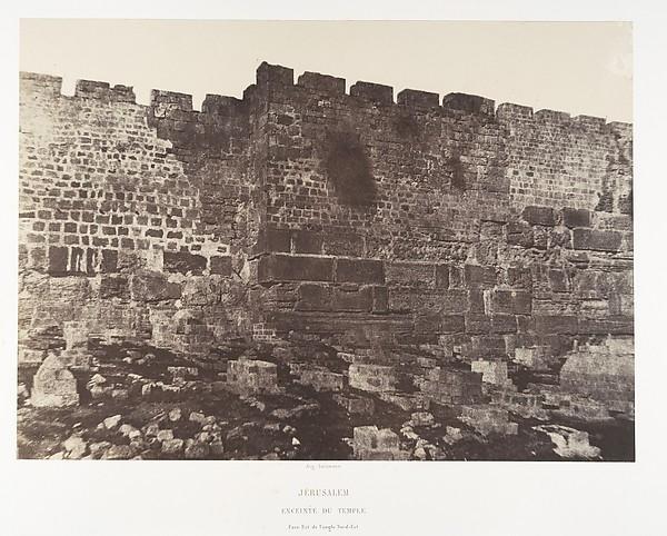 Jérusalem, Enceinte du Temple, Face est de l'angle nord-est