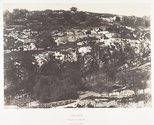 Jérusalem, Vallée de Hinnom, Détails du flanc droit, 2