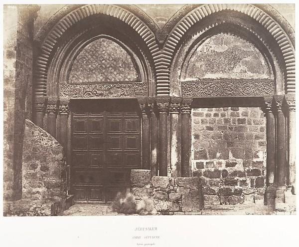 Jérusalem, Saint-Sépulcre, Entrée pricipale
