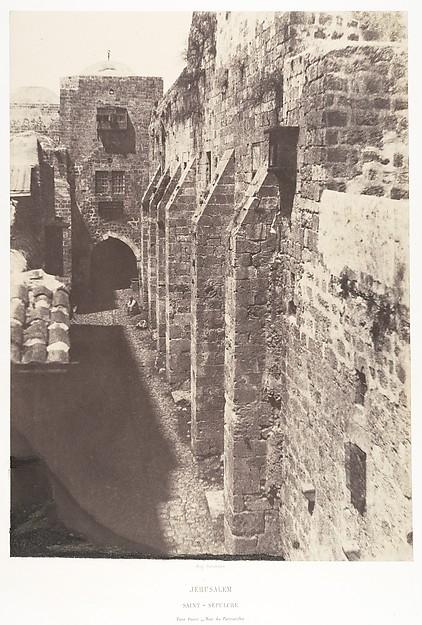 Jérusalem, Saint-Sépulcre, Face ouest, Rue du Patriarche