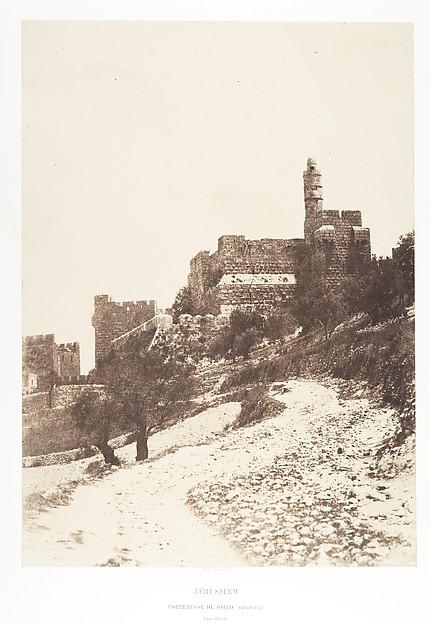 Jérusalem, Forteresse de David (citadelle), Face ouest