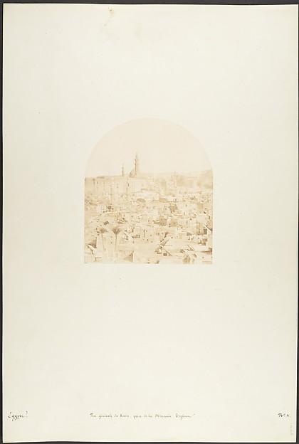 Vue générale du Kaire, prise de la Mosquée Tegloun