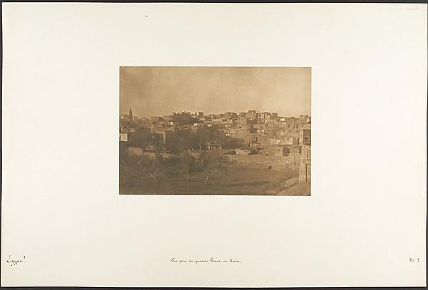 Vue prise du quartier Franc, au Kaire
