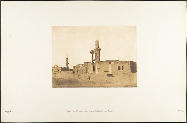 Vue d'une Mosquée ruinée près de Bab-Saïda, au Kaire