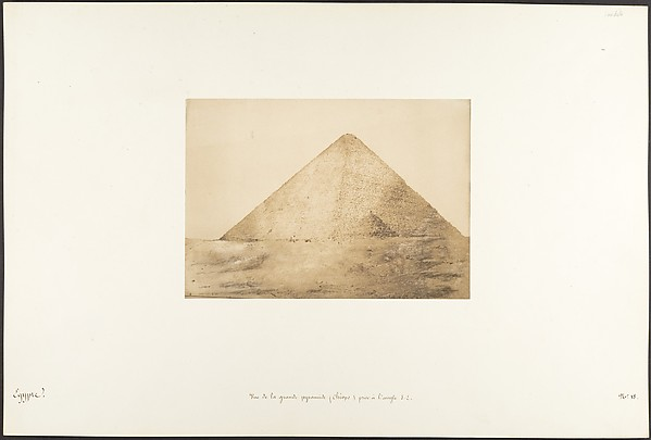 Fascinating Historical Picture of Maxime Du Camp with Vue de la grande pyramide (Chops) prise  langle S.E. on 12/15/1849
