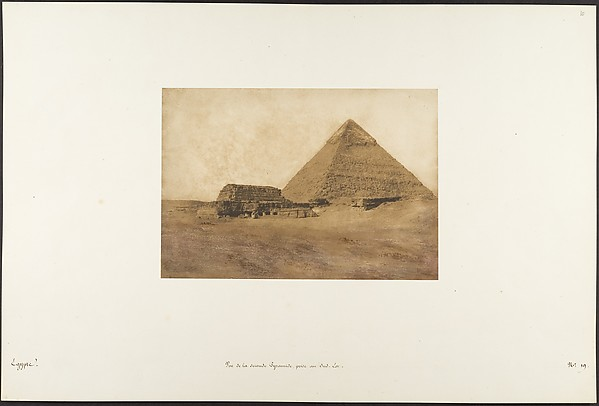 This is What Maxime Du Camp and Vue de la seconde Pyramide prise au Sud-Est Looked Like  on 12/15/1849