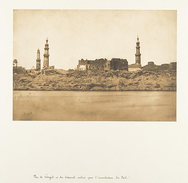 Vue de Girgeh et du littoral enlevé - par l'inondation du Nil