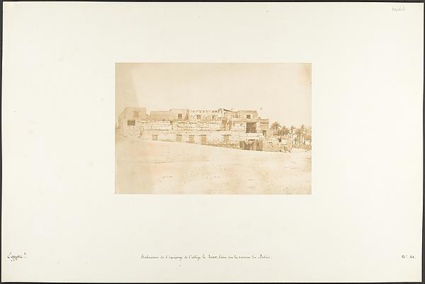 Habitation de l'équipage de l'allège de Luxor, bâtie sur la terrasse du Palais