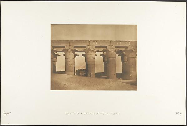 Grande Colonnade du Palais d'Aménophis III, à Luxor, Thèbes