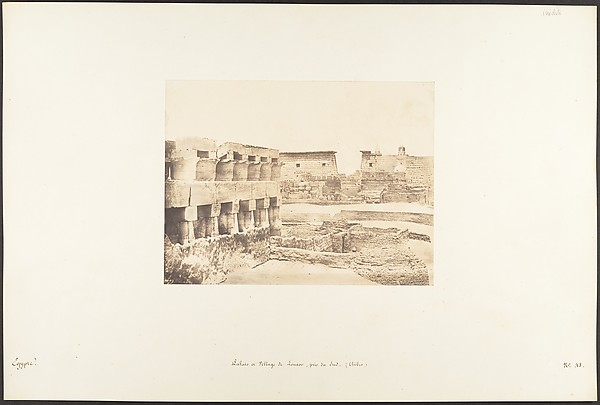 Palais et Village de Louxor, pris du Sud, Thèbes