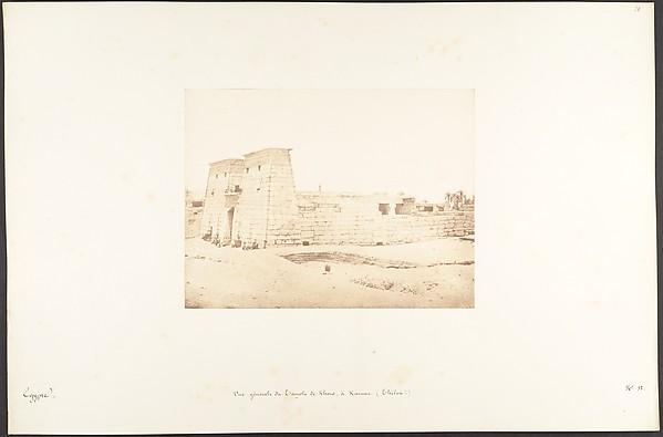 Vue générale du Temple de Khons, à Karnac, Thèbes