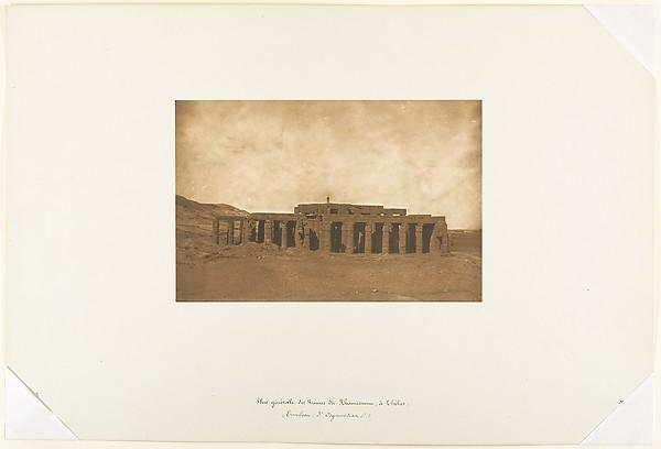 Vue générale des Ruines du Rhamesseum, à Thèbes (Tombeau d'Osymandian)
