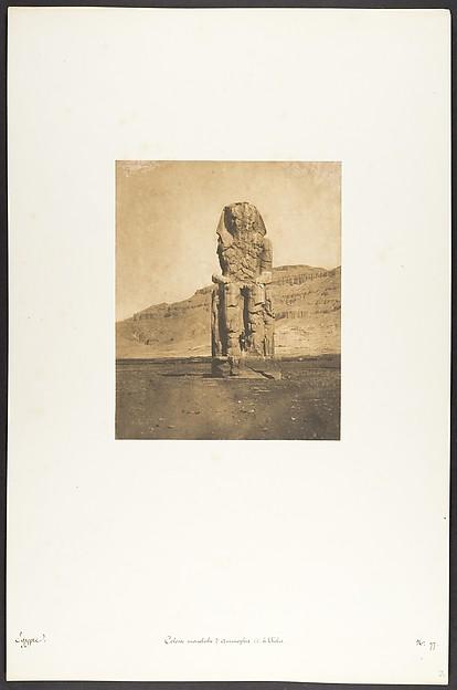 Colosse monolithe d'Amenophis III, à Thèbes