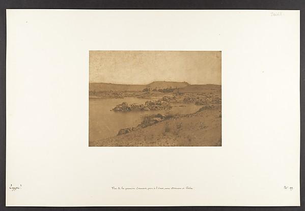 Vue de la première Cataracte, prise à l'Ouest, entre Assouan et Philae