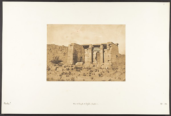 Fascinating Historical Picture of Maxime Du Camp with Vue du Temple de Tafah (Taphis) on 4/9/1850
