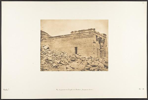 This is What Maxime Du Camp and Vue du pronaos du Temple de Dandour (Tropique du Cancer) Looked Like  on 4/7/1850
