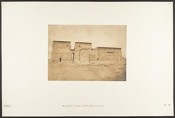 Fascinating Historical Picture of Maxime Du Camp with Vue gnrale du Temple de Dakkeh (Pselcis) prise au Nord on 4/5/1850