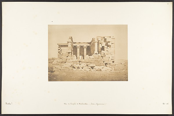 Fascinating Historical Picture of Maxime Du Camp with Vue du Temple de Maharakka (Hira-Sycaminos) on 4/5/1850