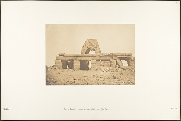 Fascinating Historical Picture of Maxime Du Camp with Vue du Temple dAmada - Coupole ruine dune Eglise Copte on 4/2/1850