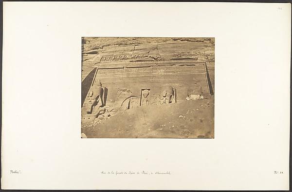 Vue de la façade du Spéos de Phré, à Abousembil