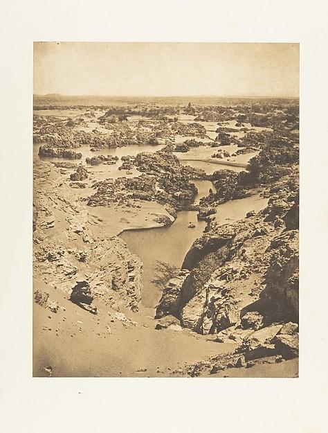 Fascinating Historical Picture of Maxime Du Camp with Vue cavalire de la seconde cataracte prise du haut de Djebel-Aboucir on 3/24/1850