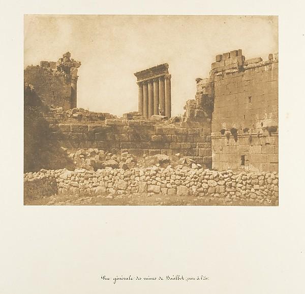Fascinating Historical Picture of Maxime Du Camp with Vue gnrale des ruines de Balbek prise  lEst on 9/15/1850