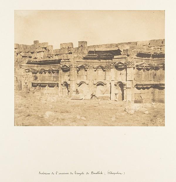 Fascinating Historical Picture of Maxime Du Camp with Intrieur de lenceinte du Temple de Baalbek (Hliopolis) on 9/15/1850