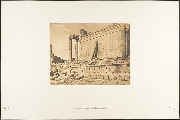 Fascinating Historical Picture of Maxime Du Camp with Vue du Temple de Jupiter  Balbek (Hliopolis) on 9/15/1850
