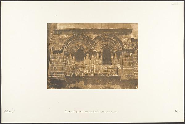Façade de l'Eglise du St. Sépulcre, à Jérusalem (No. 2 partie supérieure)