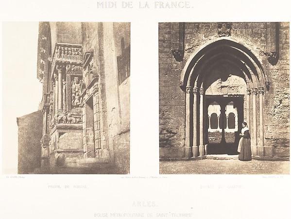 Profil du Portail; Entrée Du Cloitre, Arles, Eglise Metropolitaine de Saint-Trophime