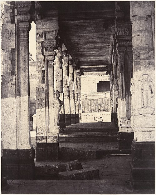 Fascinating Historical Picture of Linnaeus Tripe with Side Colonnade in the Muroothappa Sarvacar Mundapam on 1/15/1858