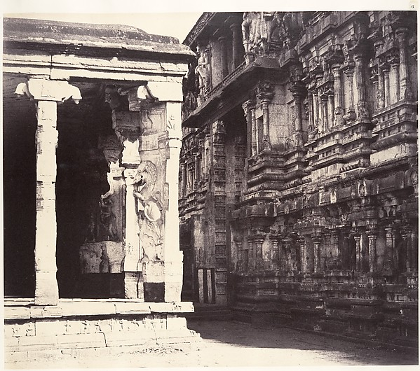 Fascinating Historical Picture of Linnaeus Tripe with The Inner Facade of the Gateway of the East Gopuram on 1/15/1858