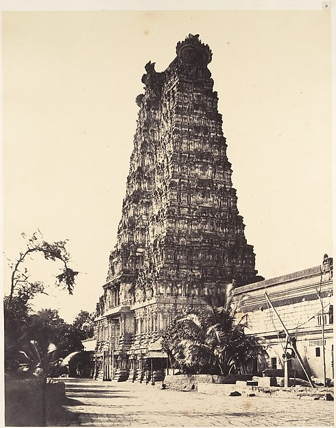 Fascinating Historical Picture of Linnaeus Tripe with The Western Gopuram on 1/15/1858