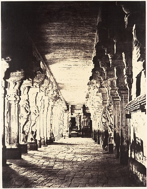 Fascinating Historical Picture of Linnaeus Tripe with The Outer Prakarum or Corridor Around the Temple of the God Sundareshawara on 1/15/1858