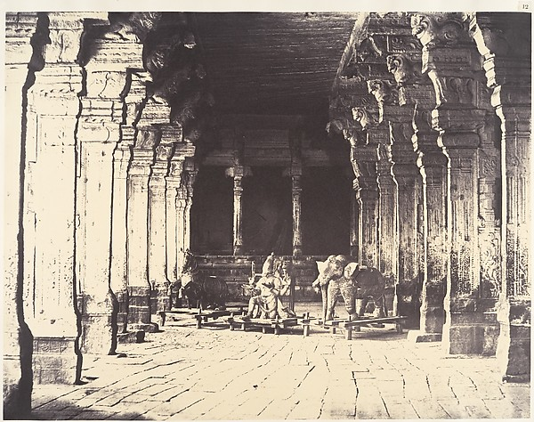 Fascinating Historical Picture of Linnaeus Tripe with Outer Prakarum on the North Side of the Temple of the God Sundareshwara on 1/15/1858