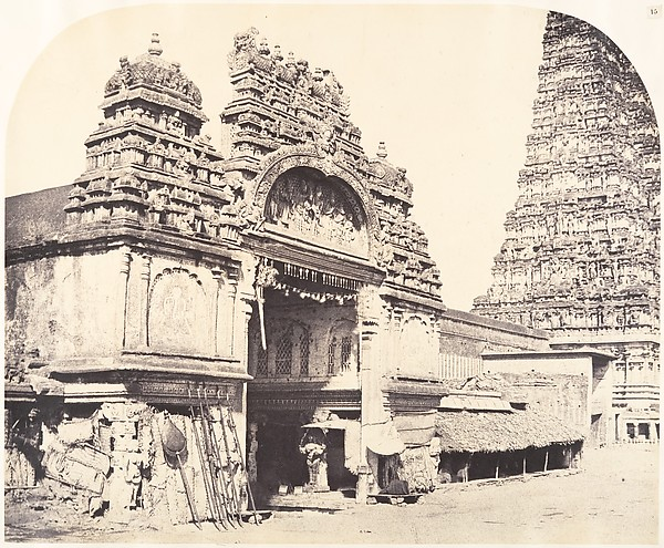 Fascinating Historical Picture of Linnaeus Tripe with Entrance to the Temple of Minakshi in the Great Pagoda on 1/15/1858