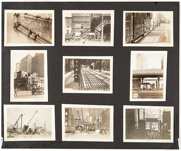 [Album Page: Madison Square Park, Elevated Train, New York]