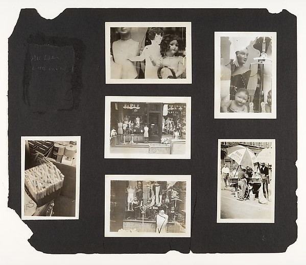 [Album Page: Dolls and Mannequins, Storefront, Street Vendor, New York]