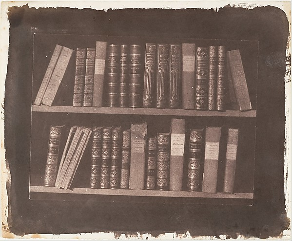 Fascinating Historical Picture of William Henry Fox Talbot with A Scene in a Library on 3/22/1844