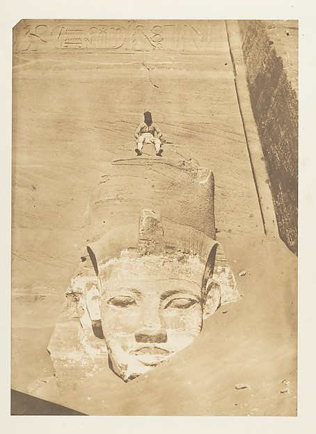 Westernmost Colossus of the Temple of Re, Abu Simbel