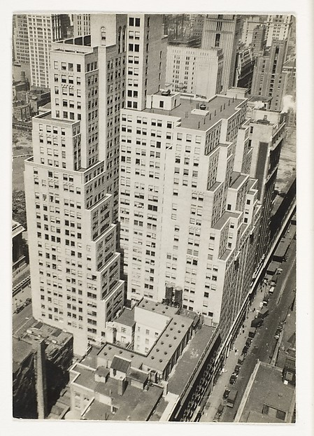 "[""Step-Back"" Buildings and Street, From Above, New York City]"