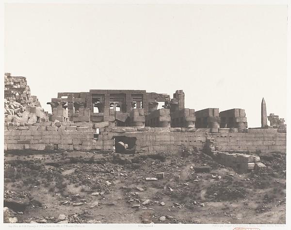 Karnak (Thèbes), Enciente du Palais Vue du Point H